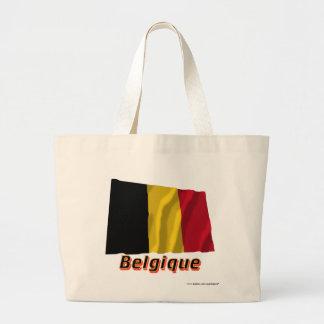 Français de Drapeau Belgique avec le nom en Bolsa Tela Grande
