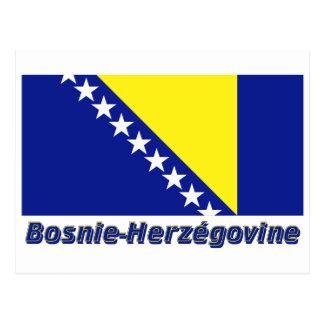 Français de Drapeau Bosnie-Herzégovine avec le nom Postal