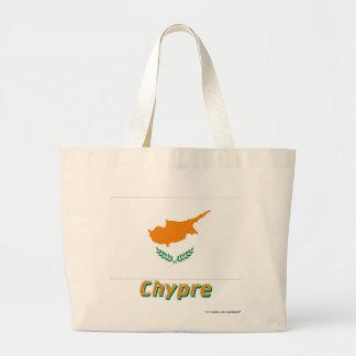Français de Drapeau Chypre avec le nom en Bolsas