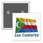 Français de Drapeau Comores avec le nom en Pins