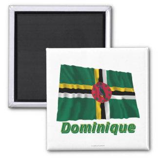 Français de Drapeau Dominique avec le nom en Imán Cuadrado