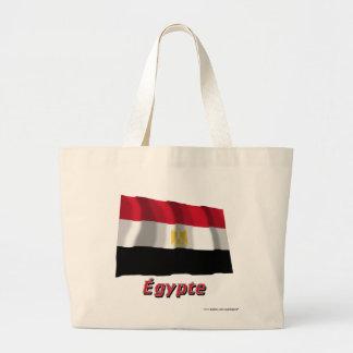 Français de Drapeau Égypte avec le nom en Bolsa