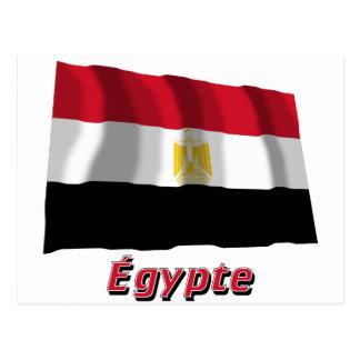 Français de Drapeau Égypte avec le nom en Postal