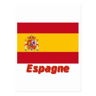Français de Drapeau España avec le nom en Postal