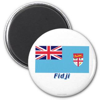 Français de Drapeau Fidji avec le nom en Imán Redondo 5 Cm