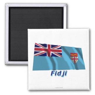 Français de Drapeau Fidji avec le nom en Imán Cuadrado