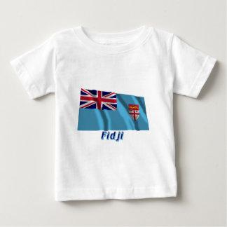 Français de Drapeau Fidji avec le nom en Tee Shirts