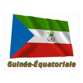 Français de Drapeau Guinée-Équatoriale avec le nom Postal