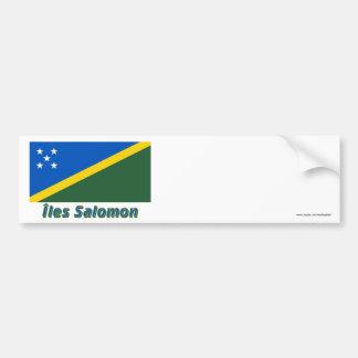 Français de Drapeau Îles Salomon avec le nom en Pegatina Para Auto