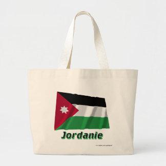 Français de Drapeau Jordanie avec le nom en Bolsas