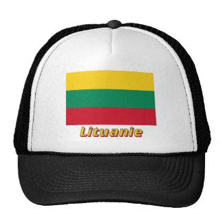 Français de Drapeau Lituanie avec le nom en Gorras De Camionero