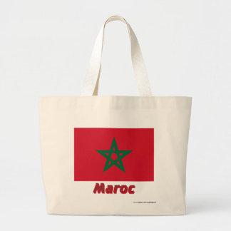 Français de Drapeau Maroc avec le nom en Bolsas