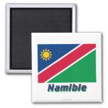 Français de Drapeau Namibie avec le nom en Imanes Para Frigoríficos