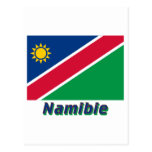 Français de Drapeau Namibie avec le nom en Tarjetas Postales