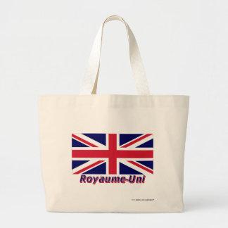 Français de Drapeau Royaume-Uni avec le nom en Bolsas Lienzo
