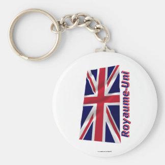 Français de Drapeau Royaume-Uni avec le nom en Llavero Redondo Tipo Pin