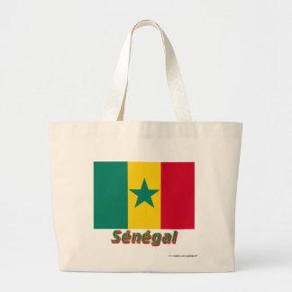 Français de Drapeau Sénégal avec le nom en Bolsas