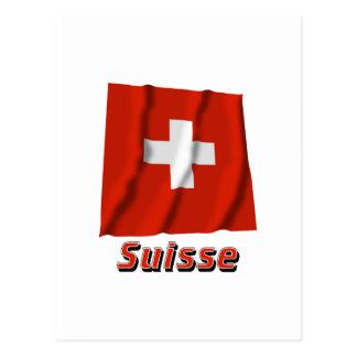 Français de Drapeau Suisse avec le nom en Postal