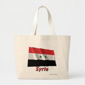 Français de Drapeau Syrie avec le nom en Bolsas De Mano