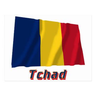 Français de Drapeau Tchad avec le nom en Postal
