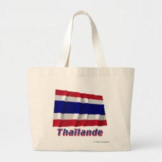 Français de Drapeau Thaïlande avec le nom en Bolsa Lienzo