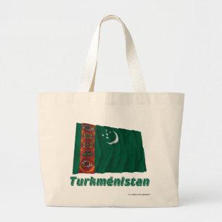Français de Drapeau Turkménistan avec le nom en Bolsa