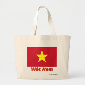 Français de Drapeau Viêt Nam avec le nom en Bolsas De Mano