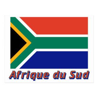 Français de le nom en del avec de Drapeau Afrique Postal