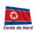 Français de le nom en del avec de Drapeau Corée du Postal