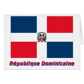 Français del en del nom del dominicaine de Drapeau Tarjeta De Felicitación