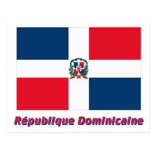Français del en del nom del dominicaine de Drapeau Tarjeta Postal