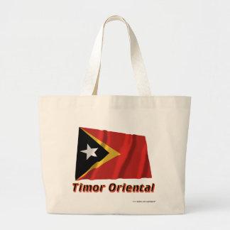 Français orientales de Drapeau Timor avec le nom e Bolsas