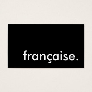 française. business card