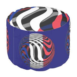 France #1 round pouf