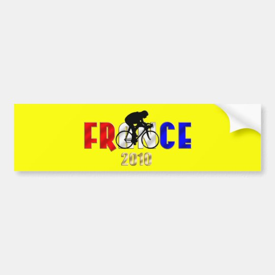 France 2010 Cycling gifts for Cyclists Bumper Sticker