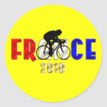 France 2010 Cycling gifts for Cyclists Sticker