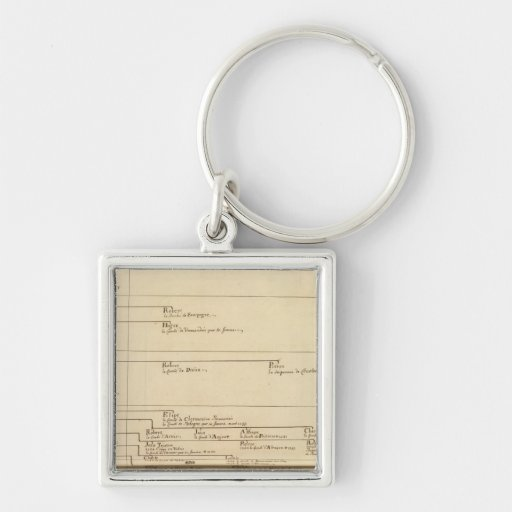 France 27 Silver-Colored square keychain