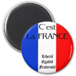 France 2 Inch Round Magnet