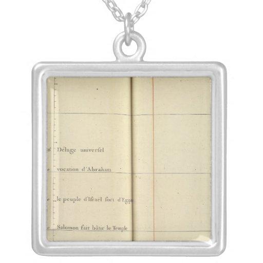 France 38 square pendant necklace