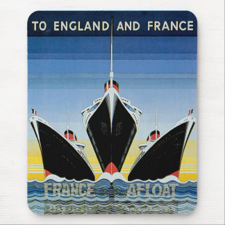 France Afloat - French Line Poster Mouse Pad