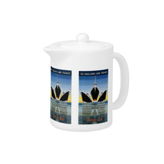 France Afloat - French Line Poster Teapot