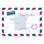 France Air Mail Escort/Seating Card Wedding Business Cards