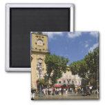 France, Aix en Provence, La Place de la Maire 2 Inch Square Magnet