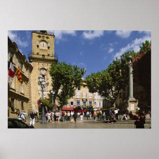 France, Aix en Provence, La Place de la Maire Poster