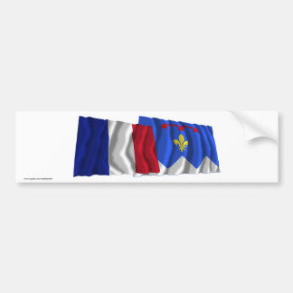 France & Alpes-de-Haute-Provence waving flags Car Bumper Sticker
