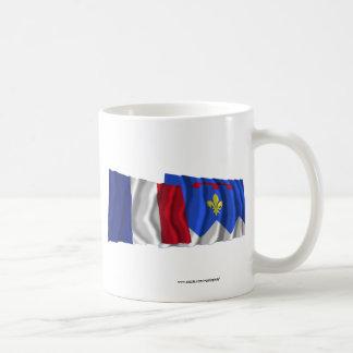 France & Alpes-de-Haute-Provence waving flags Coffee Mug