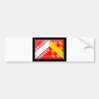 France-Alsace Flag Bumper Sticker