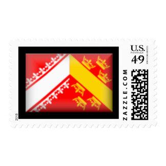France-Alsace Flag Stamps