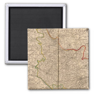 France and Belgium 2 Inch Square Magnet