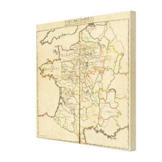 France and Boundaries Canvas Print